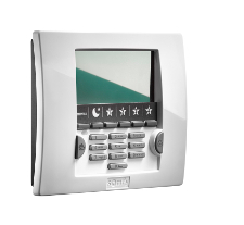 LCD keypad with badge reader